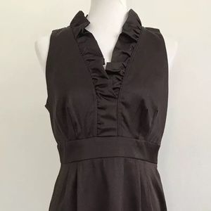 London Times Sleeveless Sheath Dress Brown NEW 10